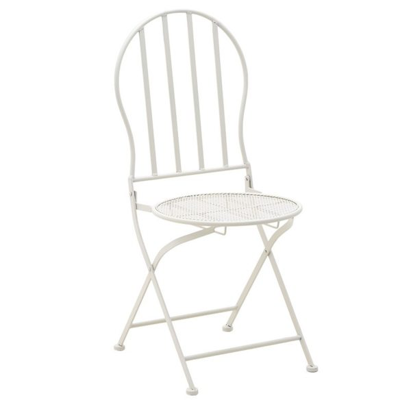 Σετ Τραπέζι Μεταλλικό Λευκό Με 2 Καρέκλες Δ60 Υ70