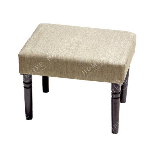 Σκαμπό/ Υποπόδιο Υφασμάτινο Γκρι Με Ξύλινα Καφέ Πόδια 40x30 Υ33