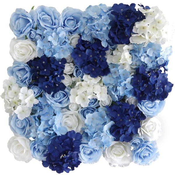 Τεχνητή Φυλλωσιά Τριαντάφυλλο Με Ορτανσία Μπλε 50x50