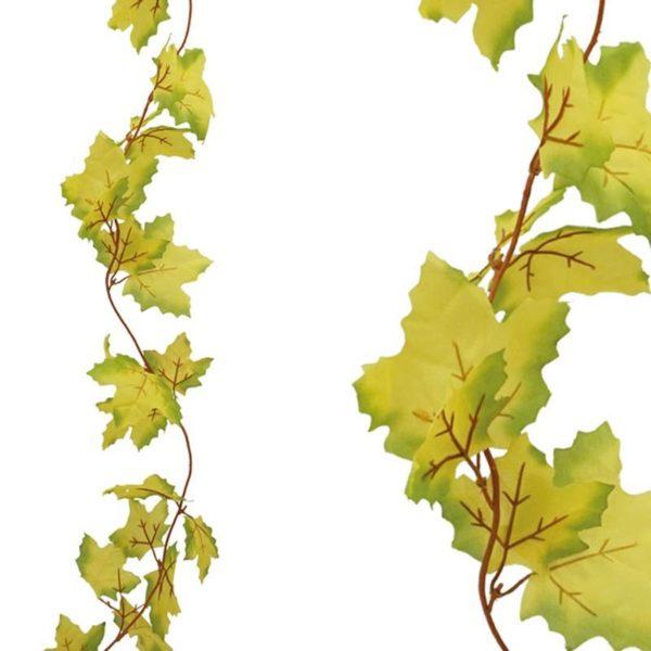 Τεχνητή Γιρλάντα Με Πλατανόφυλλο Κίτρινο/ Πράσινο Y100