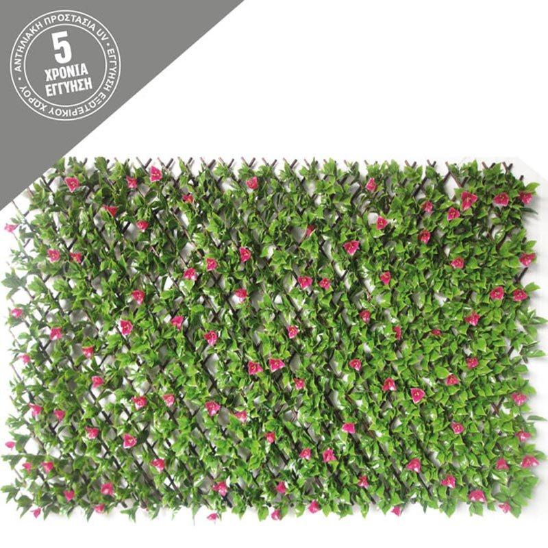 Τεχνητή Πέργκολα/ Κάθετος Κήπος Μπαμπού Με Βουκαμβίλια 100x200