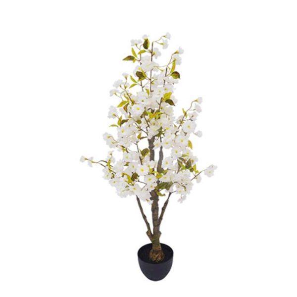 Τεχνητό Δέντρο Ανθισμένη Κερασιά Με Λευκά Άνθη Υ130