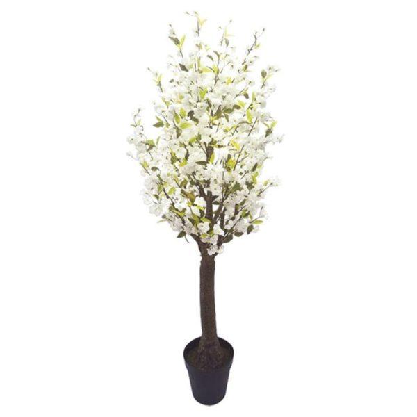 Τεχνητό Δέντρο Ανθισμένη Κερασιά Με Λευκά Άνθη Υ230
