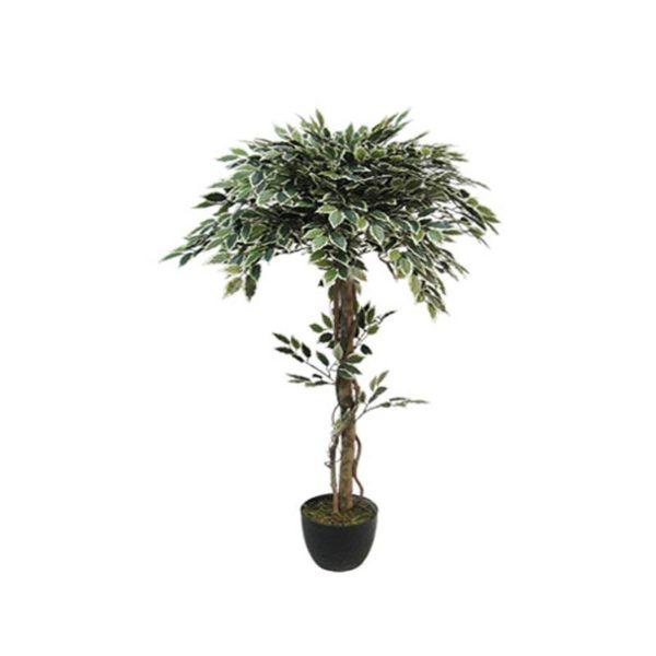 Τεχνητό Δέντρο Μπέντζαμιν Δίχρωμο Μπάλα Υ120