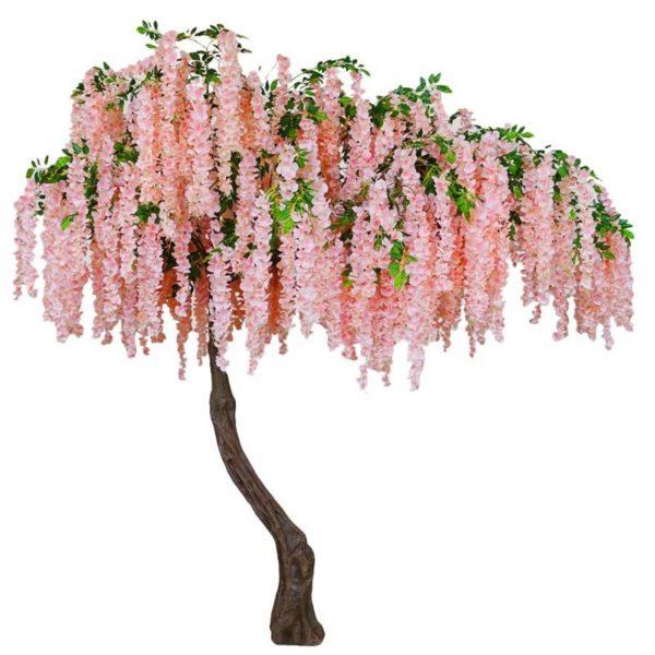 Τεχνητό Δέντρο Γλυσίνια Με Κρεμαστά Άνθη Ροζ Υ340