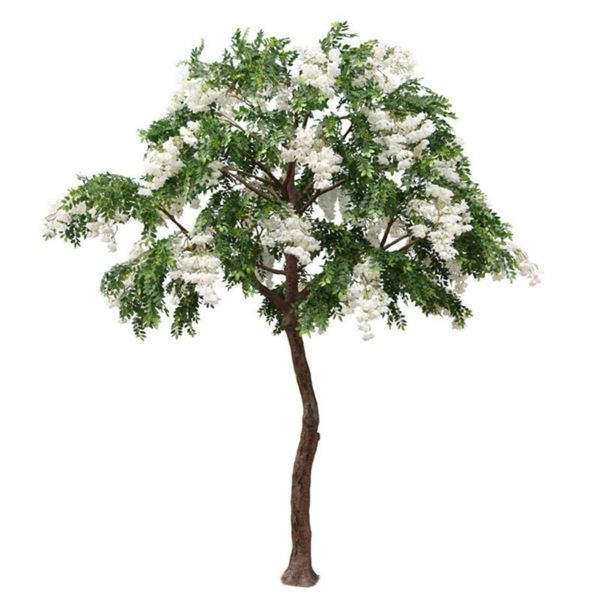 Τεχνητό Δέντρο Πράσινο Με Λευκά Άνθη Υ300