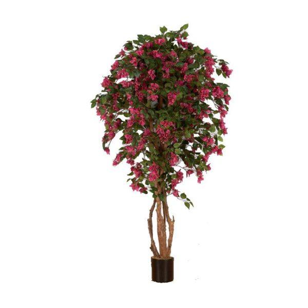 Τεχνητό Δέντρο Βουκαμβίλια Με Φούξια Άνθη Υ180