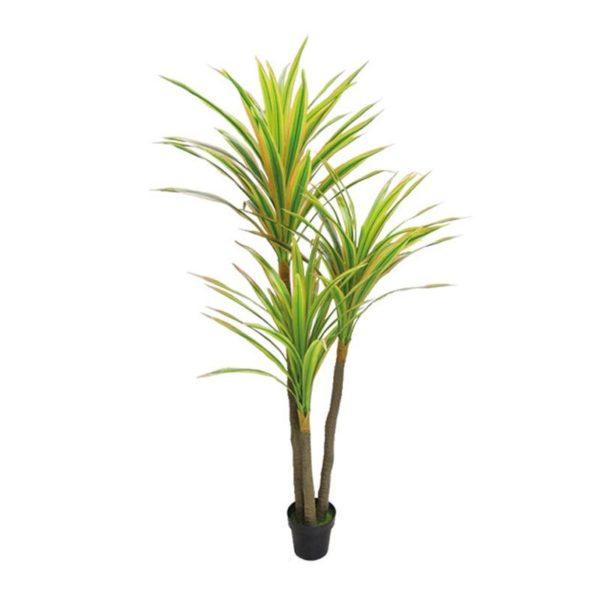 Τεχνητό Δέντρο Yucca Τριπλός Κορμός Πράσινο/ Κίτρινο Σε Γλάστρα Υ200