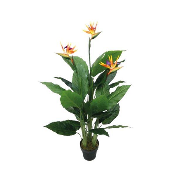 Τεχνητό Φυτό Πουλί Του Παραδείσου Πορτοκαλί Σε Γλάστρα Υ130
