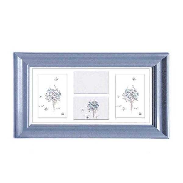 Τετραπλή Πολυκορνίζα Για 10x15 Με Μπλε Πλαίσιο