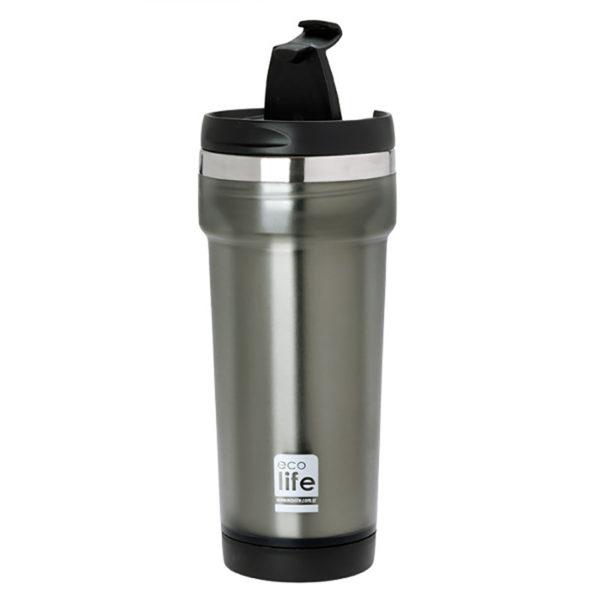 Θερμός Για Καφέ Economy Grey 420ml