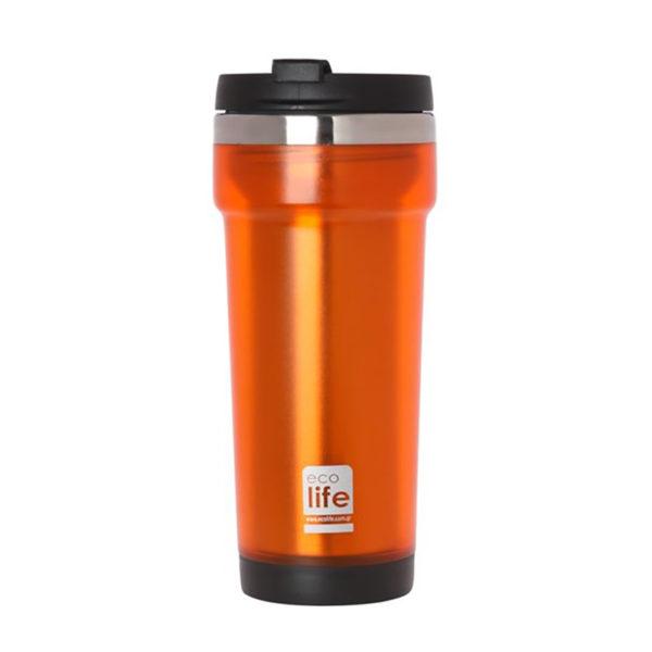 Θερμός Για Καφέ Economy Orange 420ml