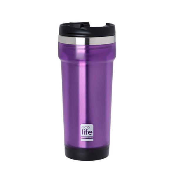 Θερμός Για Καφέ Economy Purple 420ml