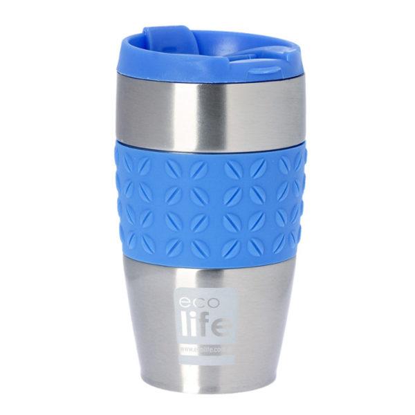 Θερμός Για Καφέ Silicon Blue 400ml