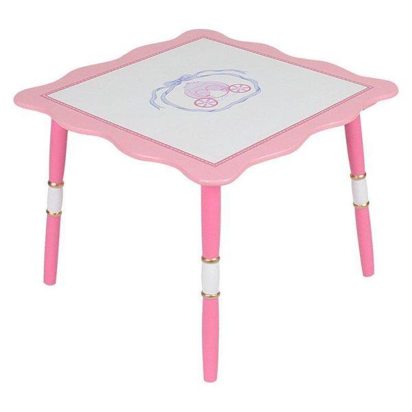 Τραπέζι Παιδικό Ξύλινο Ροζ/ Λευκό
