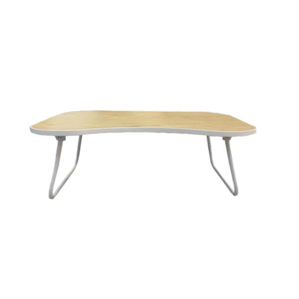 Τραπέζι Πτυσσόμενο Με Ξύλινη Επιφάνεια Και Μεταλλικό Σκελετό Λευκό/ Natural Beige M60 Y24.5