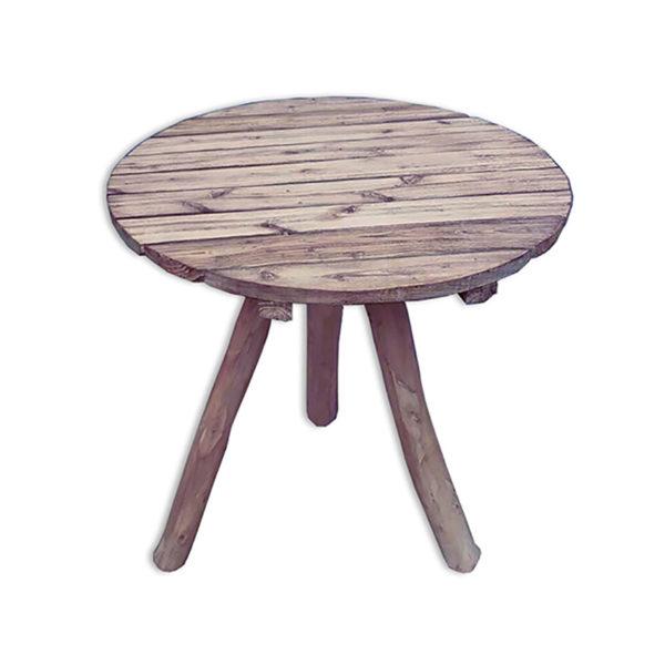 Τραπέζι Ροτόντα Φ65, Από Φυσικό Κορμό Δρύ