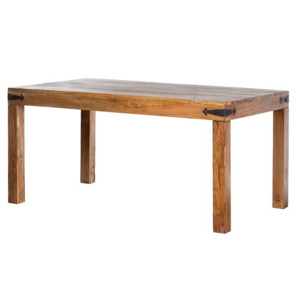 Τραπέζι Τραπεζαρίας Ξύλινο Με Μεταλλικές Συνδέσεις Natural Beige Μ160 Υ76