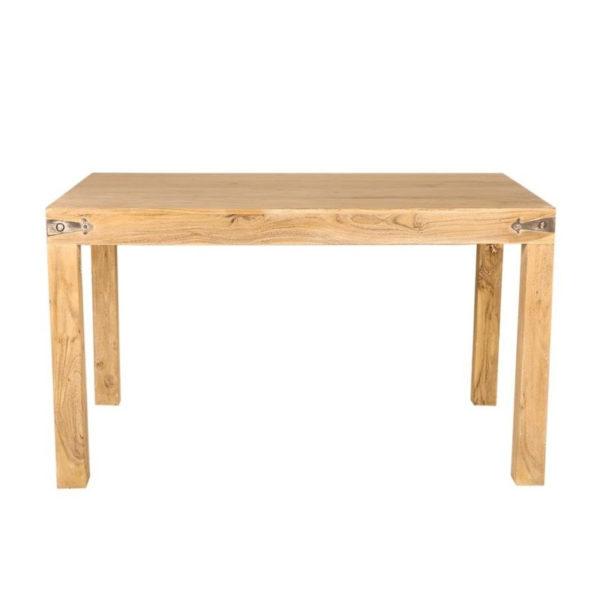 Τραπέζι Τραπεζαρίας Ξύλινο Με Μεταλλικές Συνδεσεις Natural Beige Μ160 Υ76