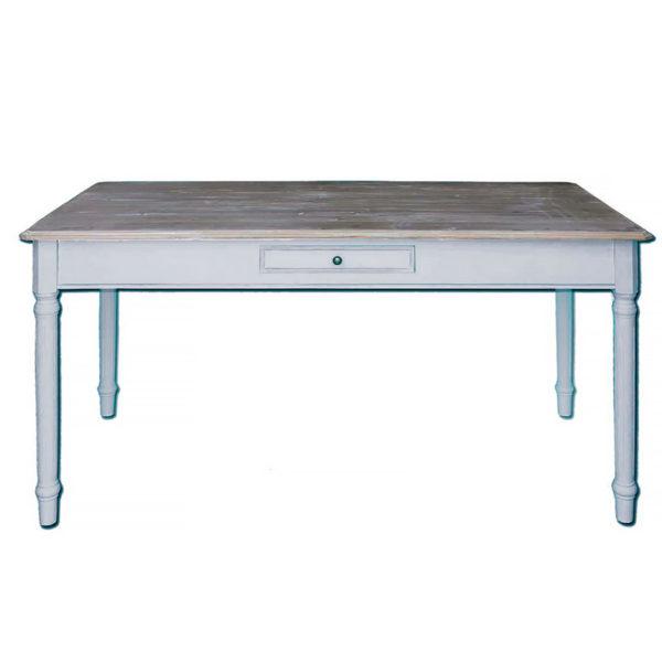 Τραπέζι Warm Grey Με Ντεκαπέ Ξύλινο Καπάκι