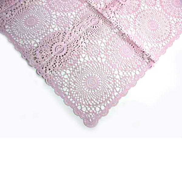 """Τραπεζομάντηλο """"Crochet"""" Ροζ Ορθογώνιο, 264x150"""