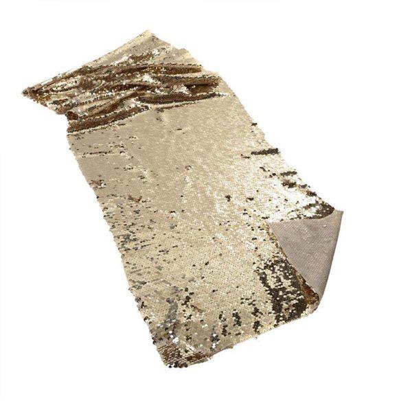 Τραβέρσα/ Κορδέλα Υφασμάτινη Σαμπανί Με Πούλιες 40x120