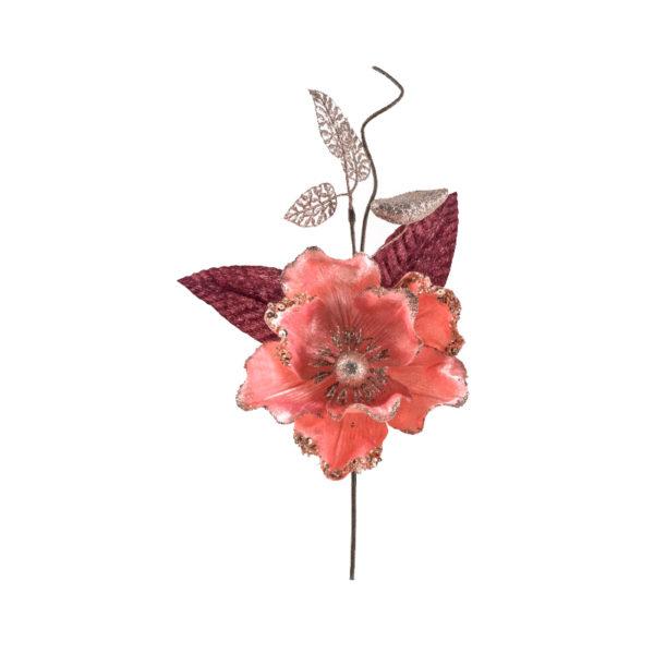 Βελούδινο Κλαδί Μανόλια Ροζ