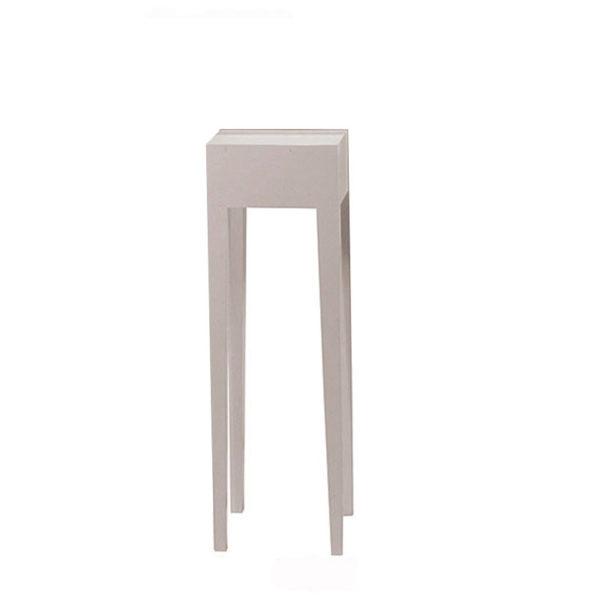 Βοηθητικό Τραπέζι Λακαριστό Λευκό Με Ψηλά Πόδια