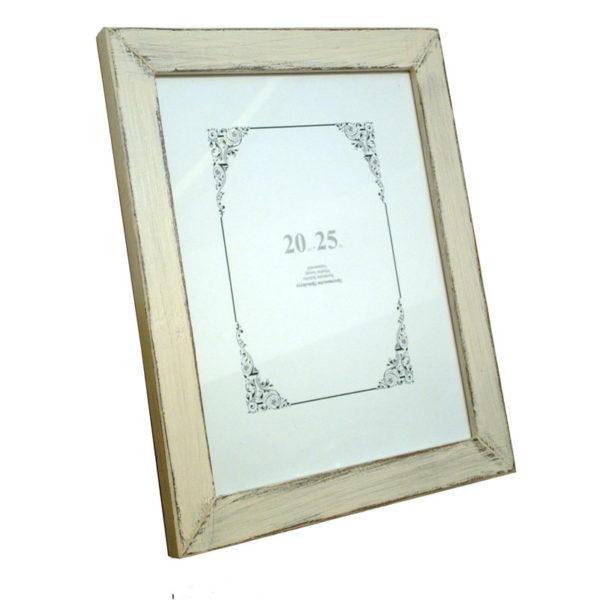 Ξύλινη Επιτραπέζια Κορνίζα Στενή 'Plain' Για Φωτογραφία 20x25 Cottage White