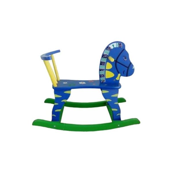 Ξύλινο Παιδικό Καρεκλάκι/ Αλογάκι Μπλε