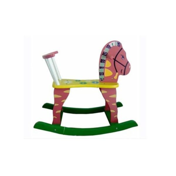 Ξύλινο Παιδικό Καρεκλάκι/ Αλογάκι Ροζ