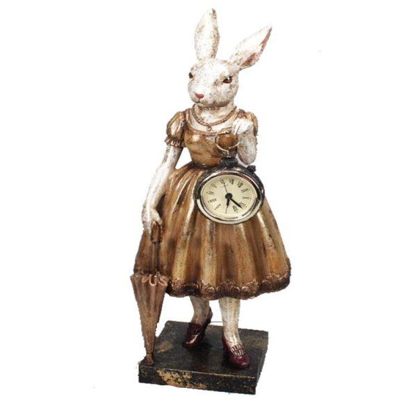 Ζάρος Διακοσμητικός Lady Rabbit Με Ρολόι Και Ομπρέλα Y35