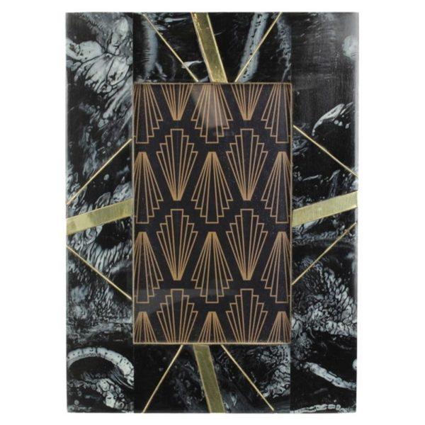 Ζάρος Κορνίζα 'Marble' Μαύρο/ Χρυσό 10x15