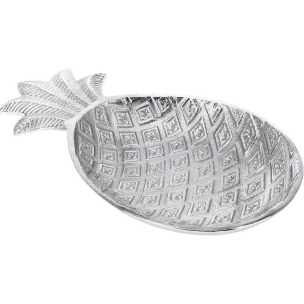 Ζάρος Πιατέλα Αλουμινίου Ασημί 'Pineapple' Μ21