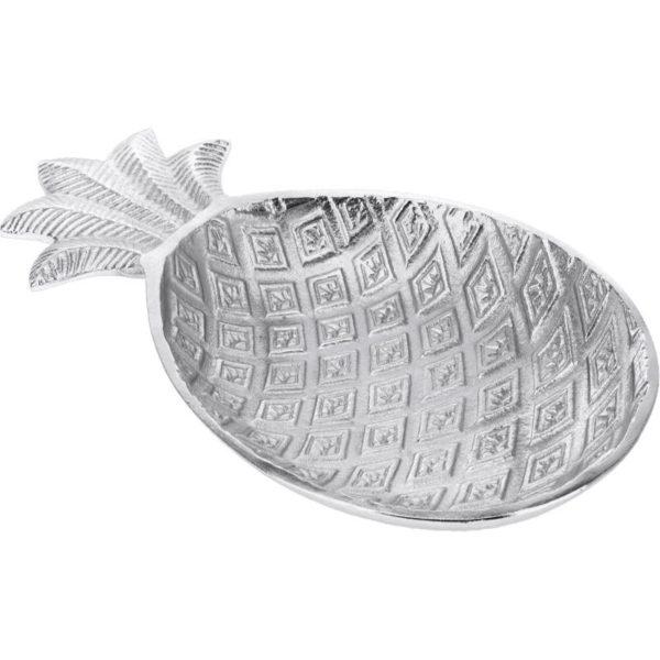 Ζάρος Πιατέλα Αλουμινίου Ασημί 'Pineapple' Μ32