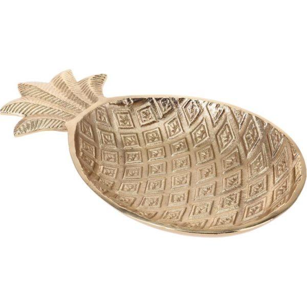 Ζάρος Πιατέλα Αλουμινίου Χρυσό 'Pineapple' Μ21