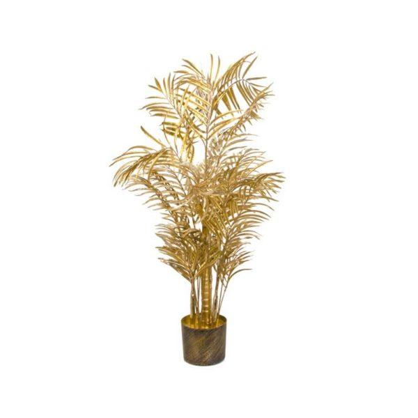 Ζάρος Τεχνητό Δέντρο Φοίνικας Αρέκα, Χρυσό Με Μεταλλική Βαφή Υ105