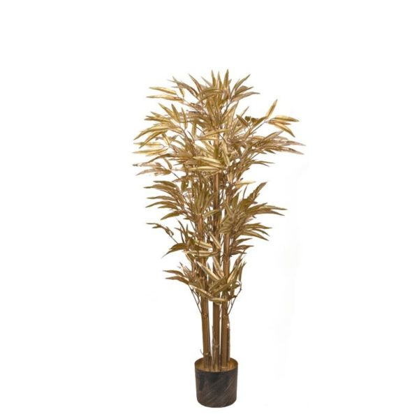 Ζάρος Τεχνητό Φυτό Μπαμπού Χρυσό, Με Μεταλλική Βαφή Y120