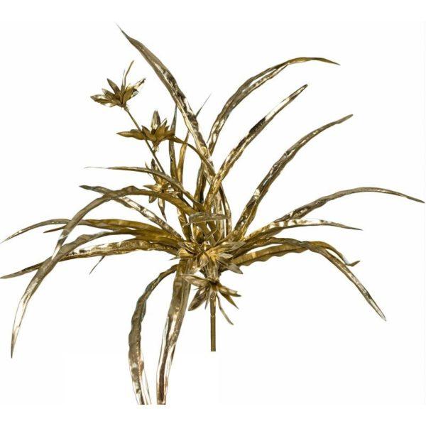 Ζάρος Τεχνητό Φυτό Spider 32φύλλων Χρυσό, Με Μεταλλική Βαφή Υ50