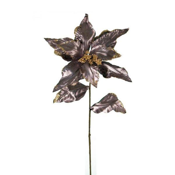 Ζάρος Τεχνητό Λουλούδι Αλεξανδρινό 2φυλλο Μολυβί/ Χρυσό