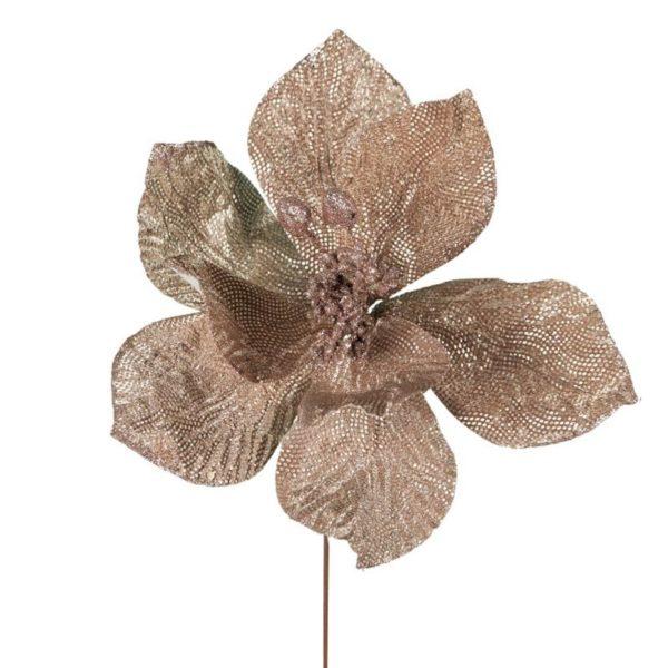 Ζάρος Τεχνητό Λουλούδι Πικ Αλεξανδρινό Ροζ/ Χρυσό