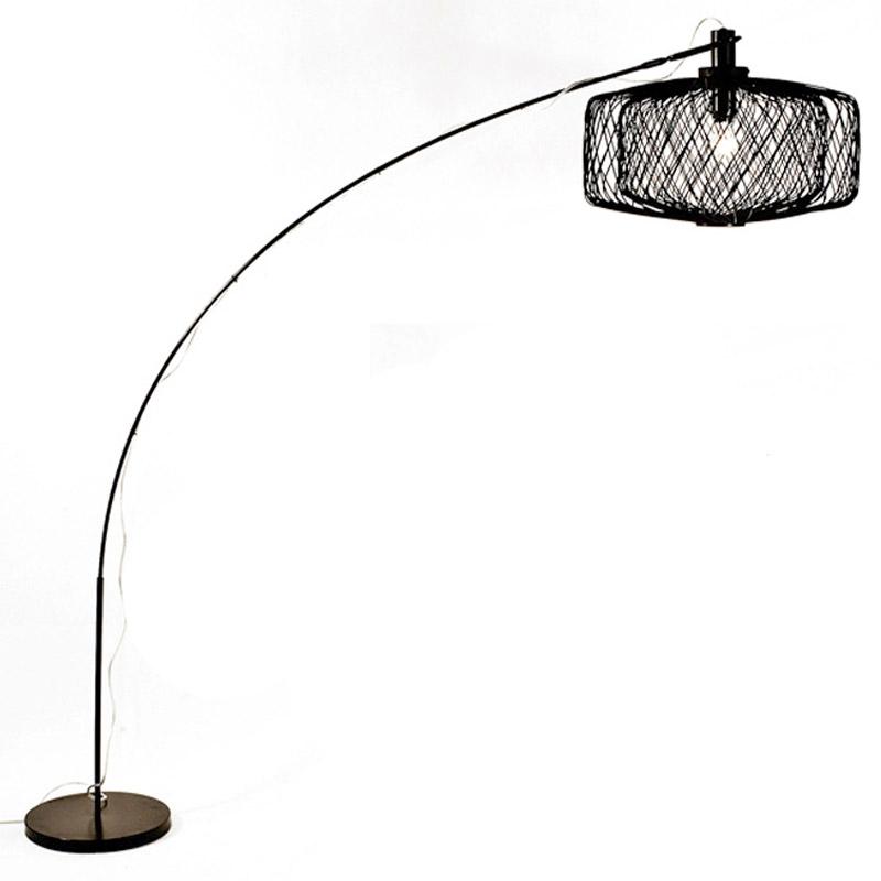 Επιδαπέδιο Φωτιστικό Bamboo Μαύρο Με Ρυθμιζόμενο Ύψος 'Shiro' Υ180 | ZAROS