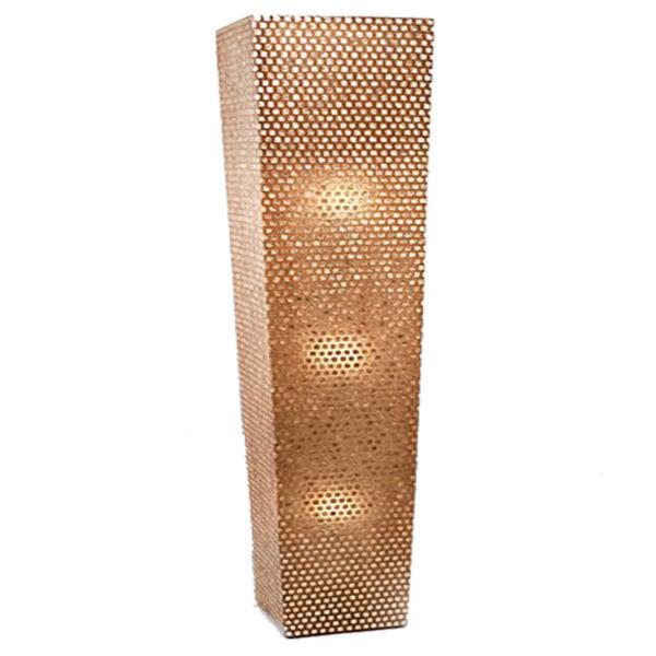 Επιδαπέδιο Φωτιστικό Μεταλλικό Διάτρητο Χάλκινο 3φωτο Υ180 | ZAROS