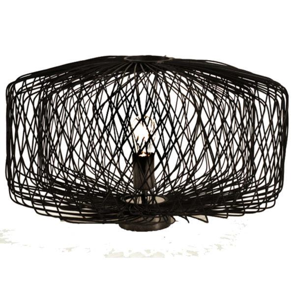 Επιτραπέζιο Φωτιστικό Bamboo Μαύρο 'Shiro' Υ30 | ZAROS