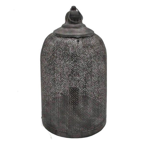 Επιτραπέζιο Φωτιστικό Μεταλλικό Μαύρο Διάτρητο 'Moroccan' Δ27 Υ45.5 | ZAROS