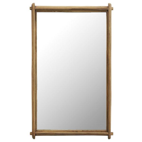 Καθρέπτης Natural Με Λεπτή Ξύλινη Κορνίζα 46x4x67 | ZAROS