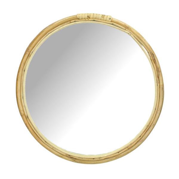 Καθρεπτης Στρογγυλός Με Κορνίζα Από Bamboo Natural Δ33 | ZAROS
