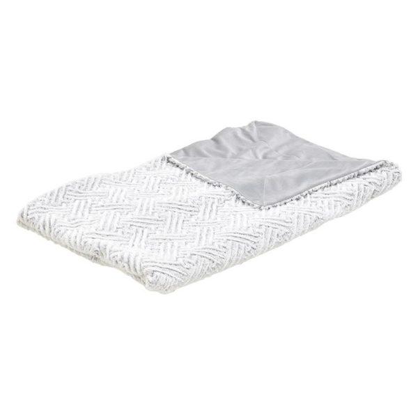Ριχτάρι Με Υφής Γούνας Γκρι/ Λευκό 150x180, Inart