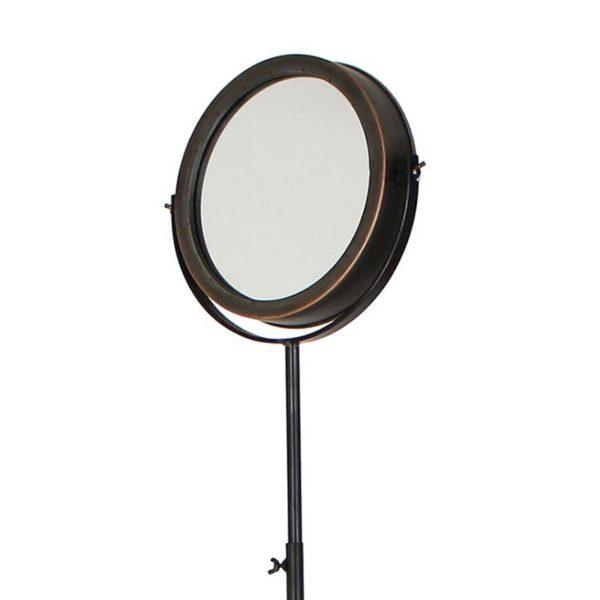 Καθρέπτης Επιδαπέδιος Μεταλλικός Μαύρος Τρίποδος 'Loft' Υ180 | ZAROS
