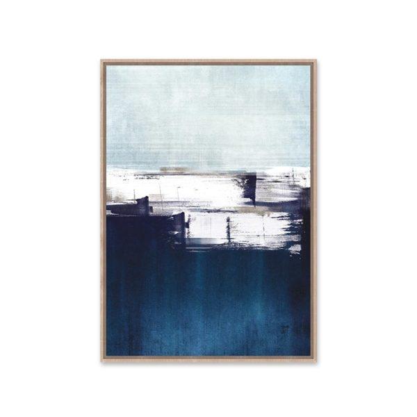 Πίνακας Καμβά Σε Κορνίζα Μπλε/ Λευκό 'Abstract Art' 60x90 | ZAROS